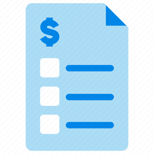 balance sheet bank account bank statement banking check list icon