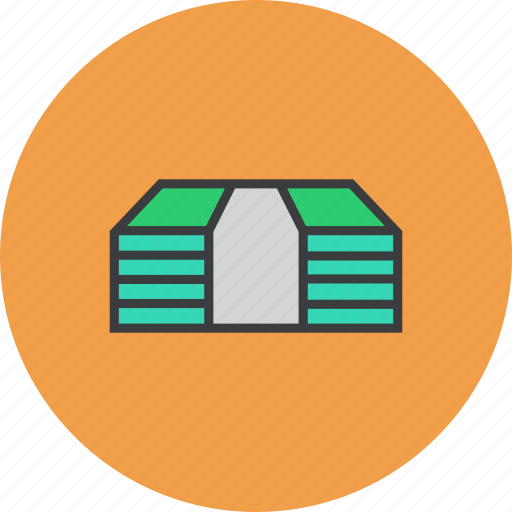 bundle, business, cash, currency, finance, money, trade icon