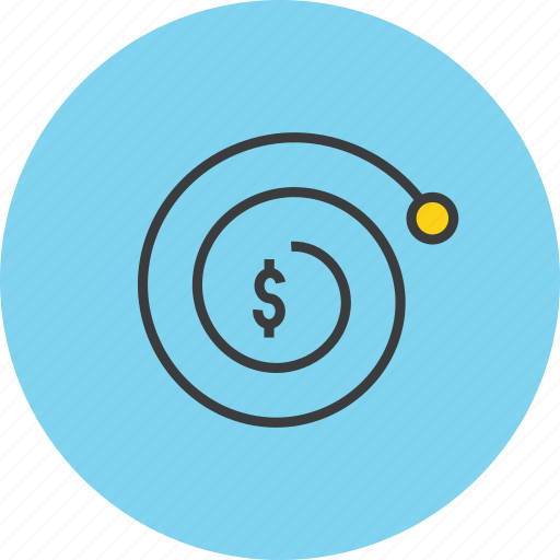 complexity, compound interest, currency, dollar, finance, growth, value icon
