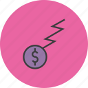 business, charge, coin, dollar, finance, flow, funds icon