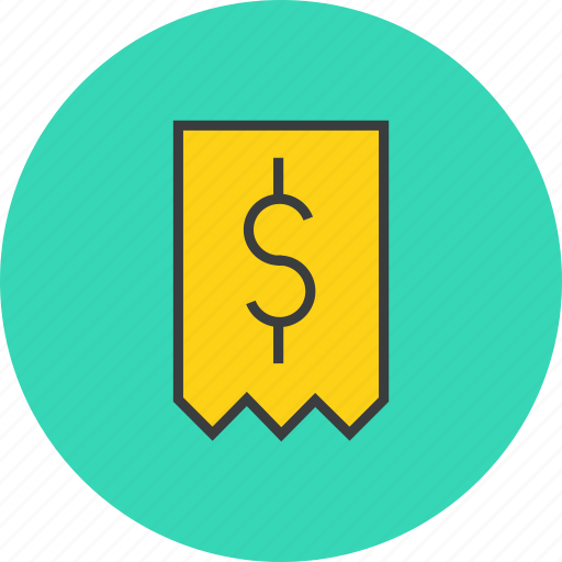 bill, dollar, finance, invoice, price, receipt, trade icon