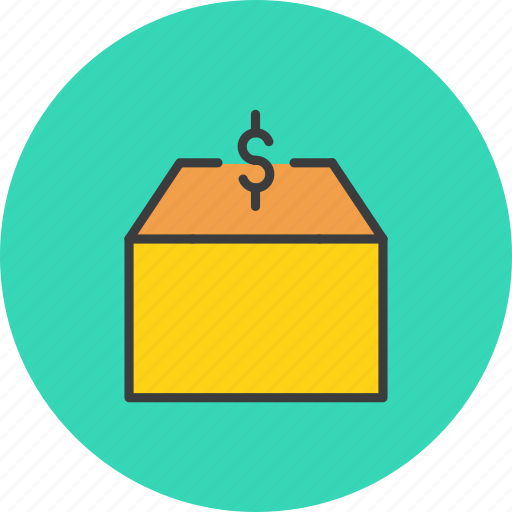 delivery, dollar, market, package, product, shipping, supply icon
