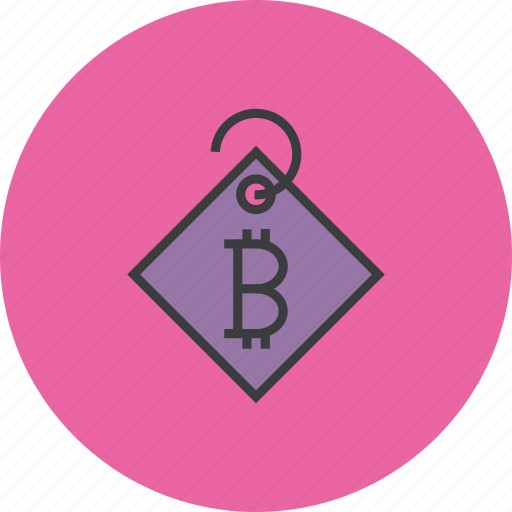 bitcoin, currency, digital, ecommerce, online, price tag, shopping icon