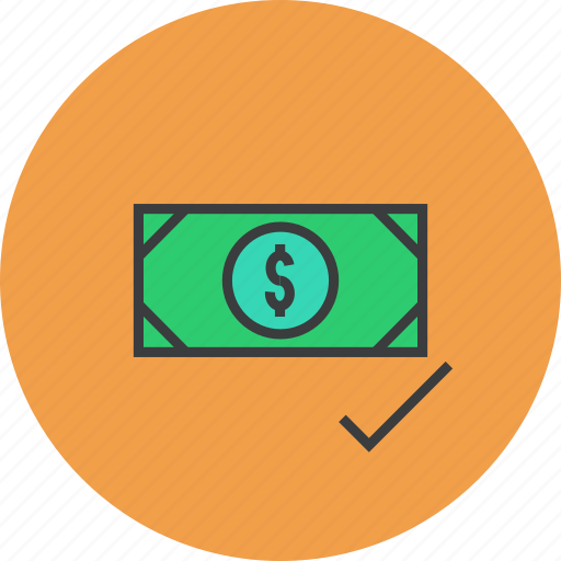 accept, authorize, dollar, loan, money, payment, transaction icon