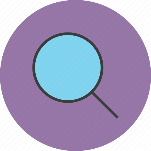 explore, find, identify, inspect, magnifier, query, search icon
