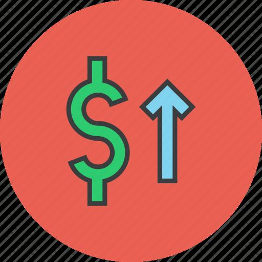 dollar, finance, increase, shares, stocks, trade, value icon