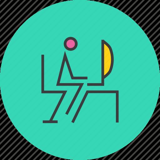 admin, chair, computer, desktop, software, system, work icon