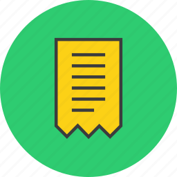 bill, business, finance, invoice, receipt, summary, trade icon
