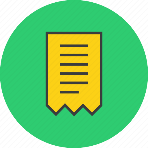 bill, business, finance, invoice, receipt, summary, trade icon