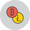 bitcoin, currency, digital, ecommerce, electronic, litecoin, online icon