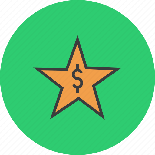 award, credit, dollar, favorite, rate, reward, star icon