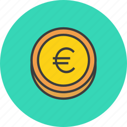 business, coin, currency, ecommerce, euro, finance, forex icon