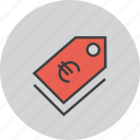 currency, euro, price, sale, shopping, tag, ecommerce icon