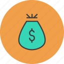 bag, business, dollar, finance, gift, money, reward icon