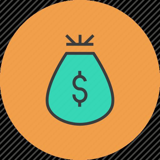 bag, business, dollar, finance, gift, money, reward icon