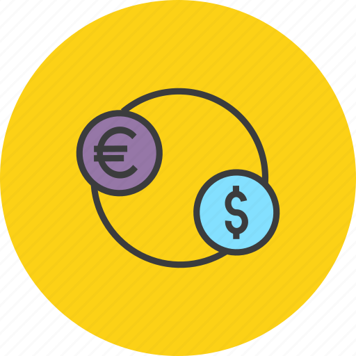 currency, dollar, euro, exchange, finance, foreign, trade icon