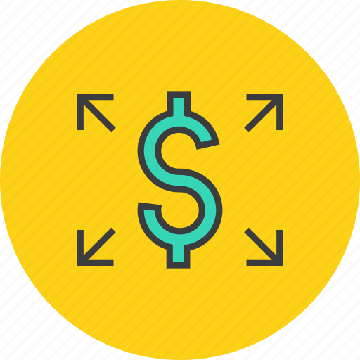 banking, business, dollar, funds, send, transaction, transfer icon