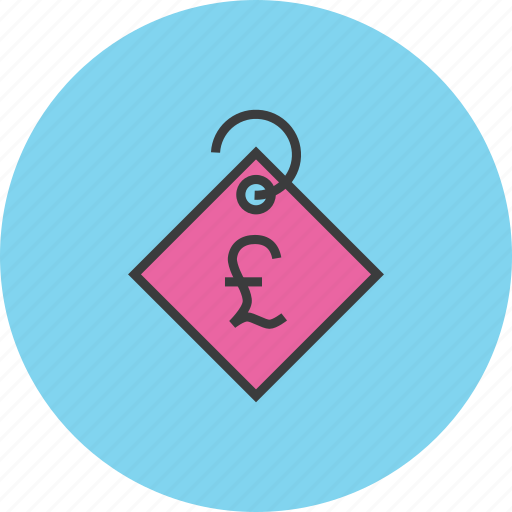 currency, ecommerce, pound, price, sale, shopping, tag icon