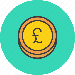 business, coin, ecommerce, finance, forex, gbp, pound icon