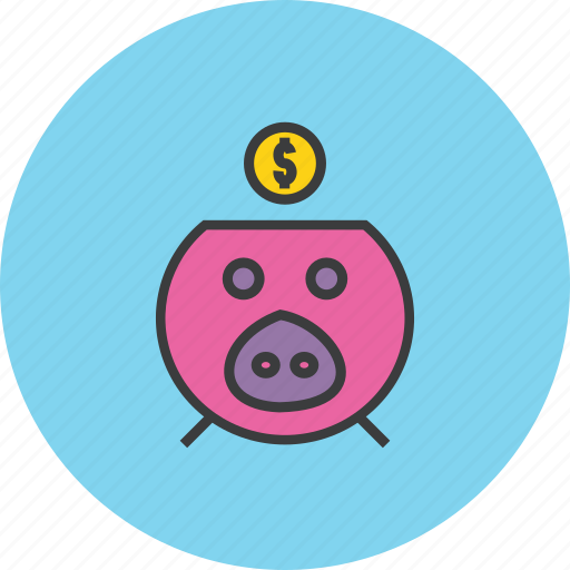 bank, banking, dollar, finance, piggy, save, savings icon