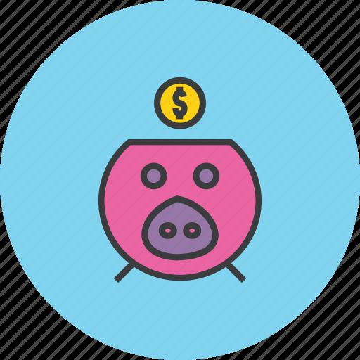 bank, banking, dollar, finance, guardar, piggy, save, savings icon