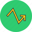 analysis, arrow, graph, progress, statistics, trade, upward icon
