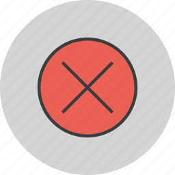 cancel, close, cross, delete, reject, remove, wrong icon