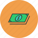 bills, business, cash, dollar, finance, funds, money icon