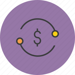 banking, business, dollar, exchange, funds, transaction, transfer icon