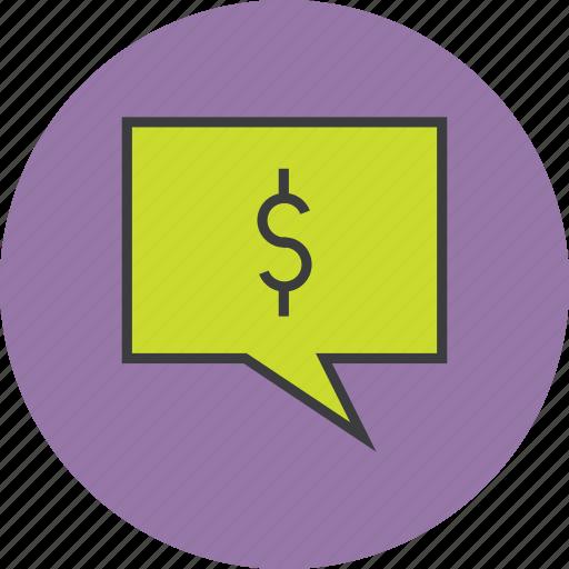alert message, balance, communication, dollar, mobile banking, notification, transaction details icon
