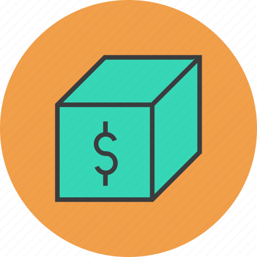 bundle, delivery, dollar, package, product, sale, shipping icon