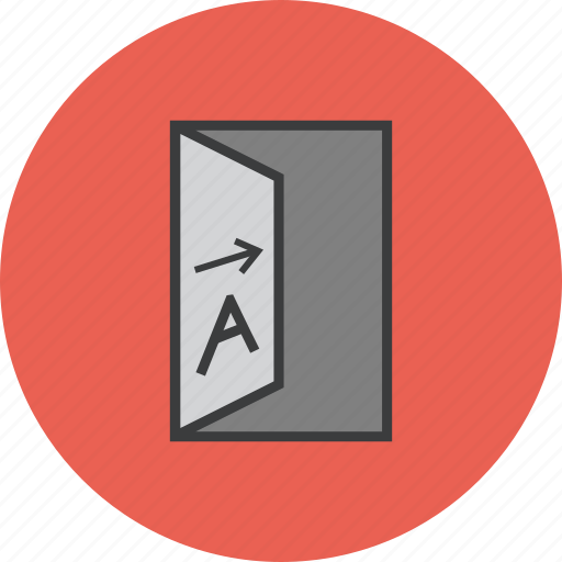 account, banking, business, door, finance, opening, trade icon