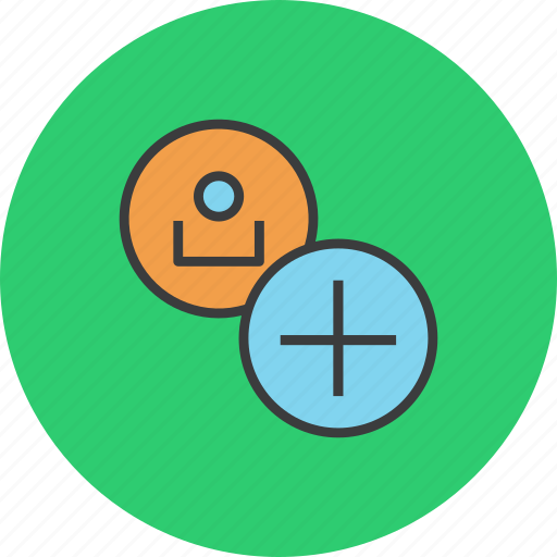account, add, create, employee, new, profile, user icon