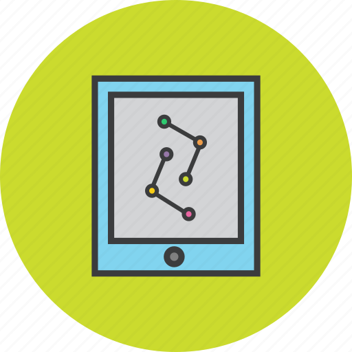 analytics, data visualization, graph, infographic, mobile, statistics, tablet icon
