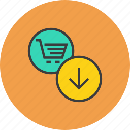 basket, cart, ecommerce, item, save, shopping, trade icon