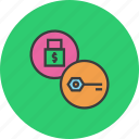 access, authentication, encrytpion, key, lock, password, security icon