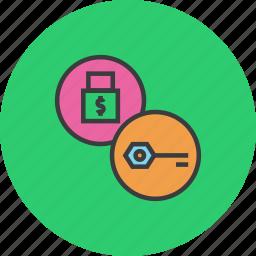 access, authentication, encrytpion, key, lock, password, security icon
