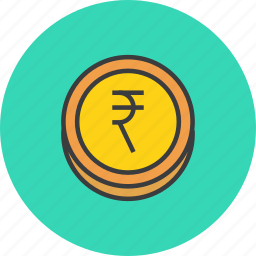 business, coin, currency, finance, forex, rupee, trade icon