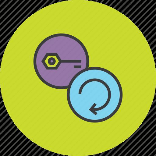 authentication, key, modify, password, refresh, renew, update icon