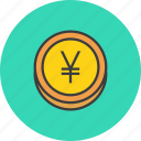 business, coin, finance, forex, trade, yen, yuan icon