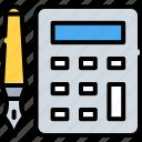 calculator, cost, estimate, finance calculator, pen, pencil, tools