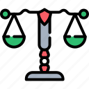 balance, cyber, justice, law, lawyer, legal, scales icon