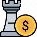 chess, coin, earn, investment, king, plan, strategy