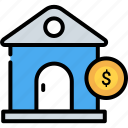 business, home, house, investment, loan, mortgage, property icon