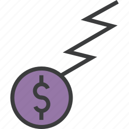 business, charge, coin, dollar, finance, funds, trade icon