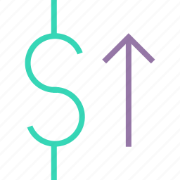 currency, dollar, finance, foreign exchange, increase, shares, value icon