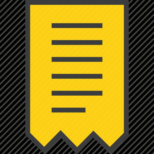 bill, business, finance, invoice, receipt, statement, summary icon
