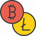 bitcoin, currency, digital, ecommerce, electronic, litecoin, online trade icon