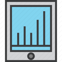 analytics, data visualization, graph, infographic, ipad, presentation, statistics icon