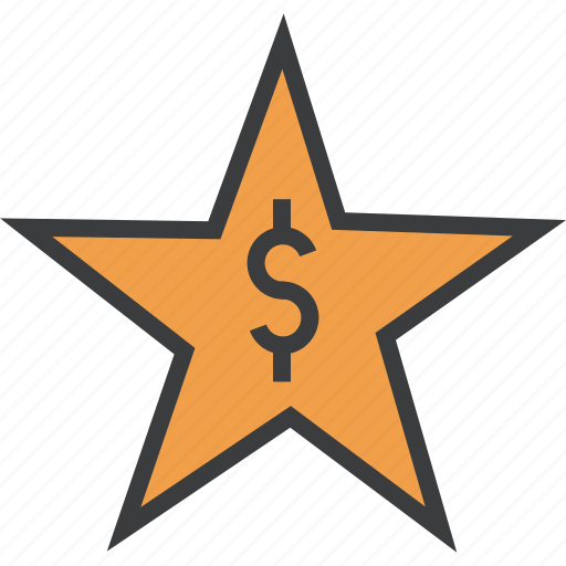 award, credit, dollar, favorite, rate, reward, star icon